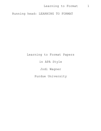 purdue owl apa research paper